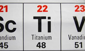 The metal titanium is among natural resources to face a 25% import tariff.