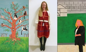 Lloyd Ellis' The Lemur Tree, Alice Ellis-Bray wearing her Ghost Dance Dress, and a portrait of Rachel Whiteread by Richard Mittens.