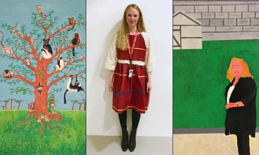 Lloyd Ellis' The Lemur Tree, Alice Ellis-Bray wearing her Ghost Dance Dress, and a portrait of Rachel Whiteread by Richard Mittens.
