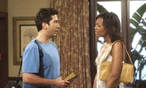 David Schwimmer as Ross with Aisha Tyler as Charlie Wheeler.