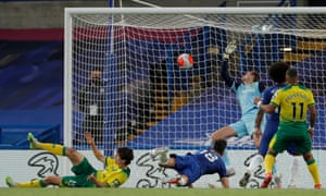 Olivier Giroud of Chelsea scores his side's first goal.