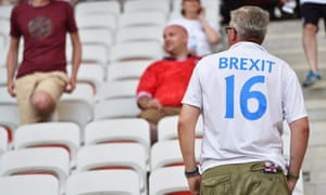 An England fan prepares to watch England lose to Iceland at Euro 2016.