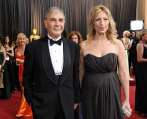 Robert Forster and Denise Grayson pose on the red carpet during the 84th Academy Awards in 2012.