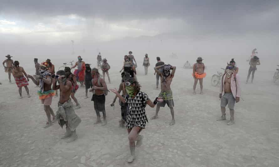 The Burning Man arts and music festival in the Black Rock desert of Nevada in 2017.