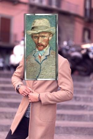 Vincent Van Gogh, Self-Portrait photographed by Michael Thibault