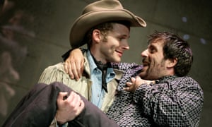 Charles Aitken (left) as Joe Buck and Con O'Neill as 'Ratso' Rizzo in ScreenStage adaptation of Midnight Cowboy.