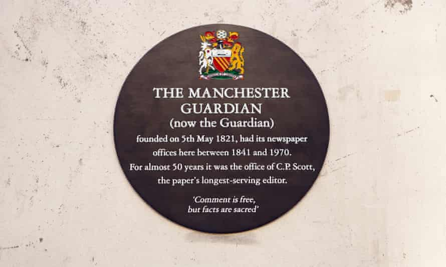 The plaque on Cross Street in Manchester.