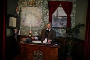 Reenactment of the signing of Balfour declaration