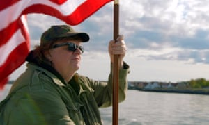 Flying the flag: Michael Moore in Where to Invade Next, his new documentary.