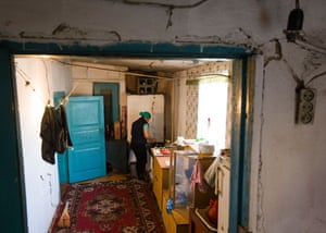 An ex-detainee of a Chinese internment camp in Almaty, Kazakhstan