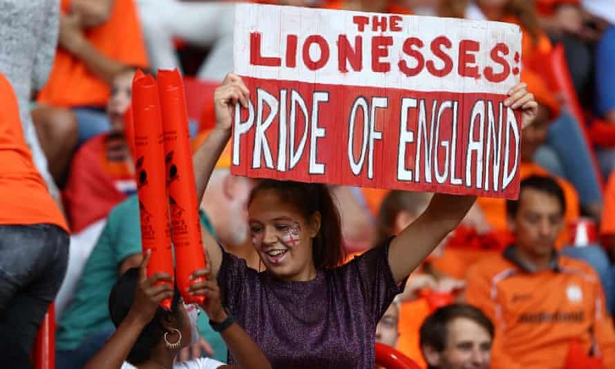 England fans at De Grolsch Veste stadium.