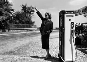 Jeanne Moreau in Gas-oil, 1955