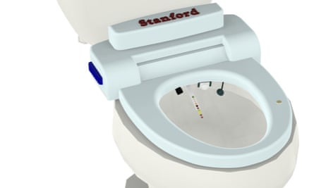 The Stanford University medical school's 'smart toilet' fits inside the bowl.