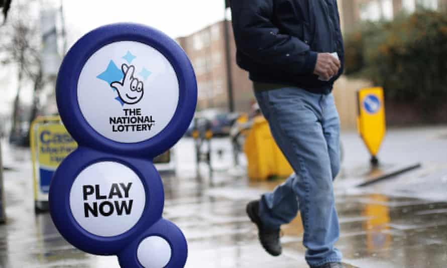 National Lottery street sign