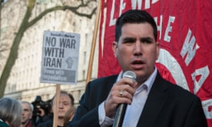 Richard Burgon speaking at a Stop the War rally at the weekend.