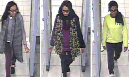 Kadiza Sultana, Shamima Begum and Amira Abase