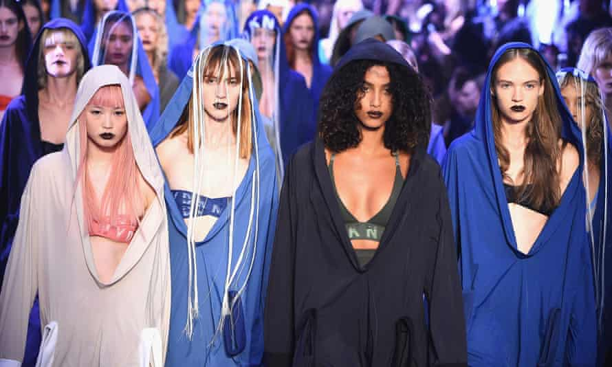 The DKNY show featured 40 models dressed in boiler suits