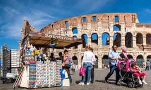 Souvenir stand, Colosseum, Rome