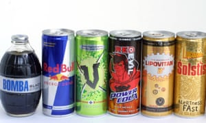 Energy drinks often contain high levels of caffeine and sugar.