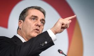 World Trade Organisation (WTO) director-general Roberto Azevedo.