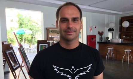 Jair Bolsonaro's son, Eduardo Bolsonaro, seen as Brazil's de-facto secretary of state, appears to have offered Steve Bannon a say in policy-making.