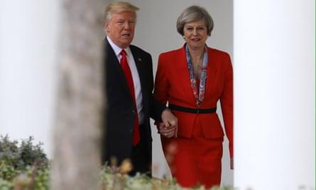 Theresa May and Donad Trump