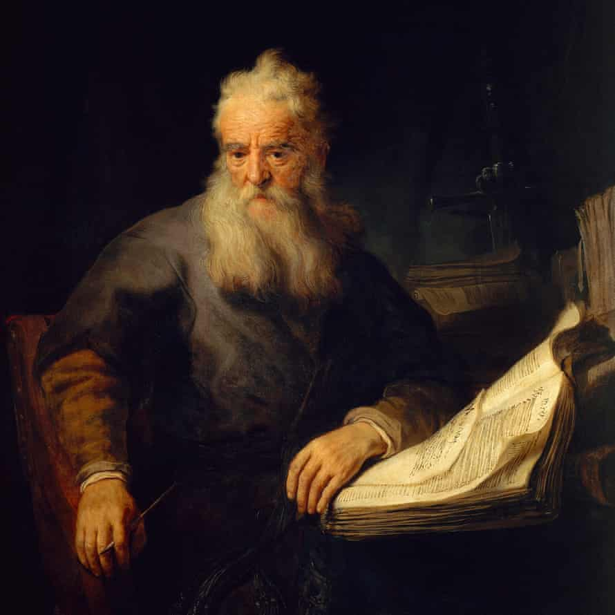 The apostle Paul (1635) by Rembrandt. Photograph: G. Nimataliah/De Agostini via Getty Images