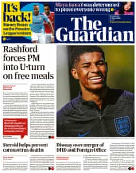 Guardian front page, Wednesday 17 June 2020