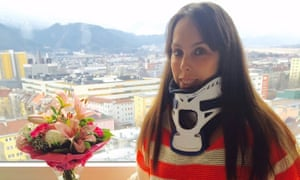Beth Tweddle pictured in 2016 after neck surgery
