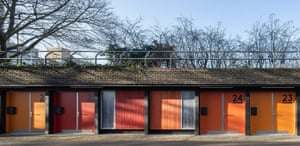 Workshops in repurposed garages at Poplar Works.