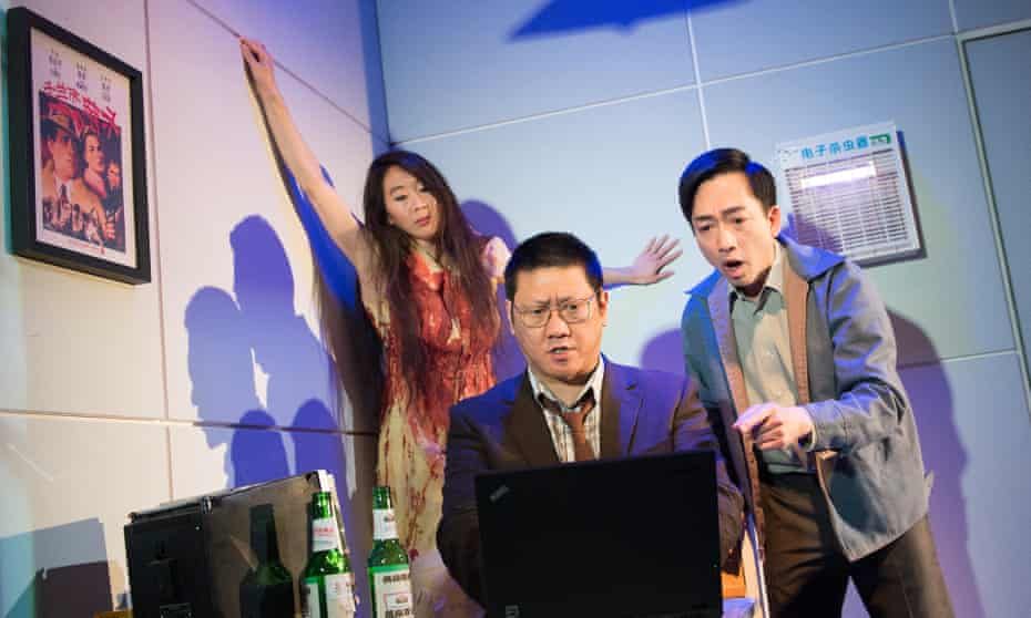 Elizabeth Chan, Benedict Wong and David KS Tse in Chimerica.