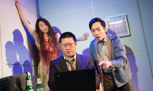 We need more balance … Elizabeth Chan, Benedict Wong and David Tse in Chimerica, London, 2013.