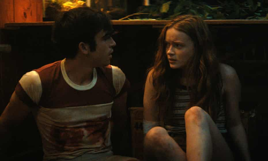 Ted Sutherland and Sadie Sink in Fear Street Part 2: 1978.