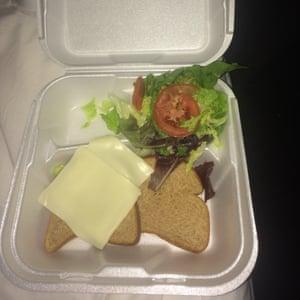 The food on offer at Fyre festival.