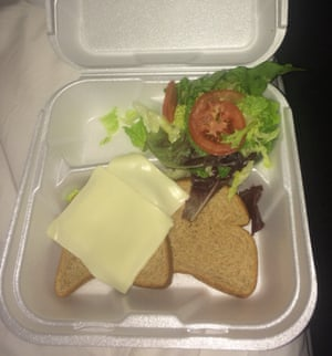 A widely circulated image of the food on offer at Fyre Fest.