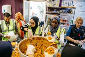 Volunteers ensured guests were provided with a variety of home cooked food.