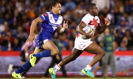 Ryan Hall Extends Scoring Streak To Spark England Win Over Samoa Rugby League The Guardian