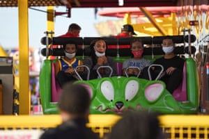 Visitors on a ride at the Mississippi state fair in Jackson