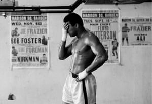 Ali during a training session in the gym in Miami Beach, 1971