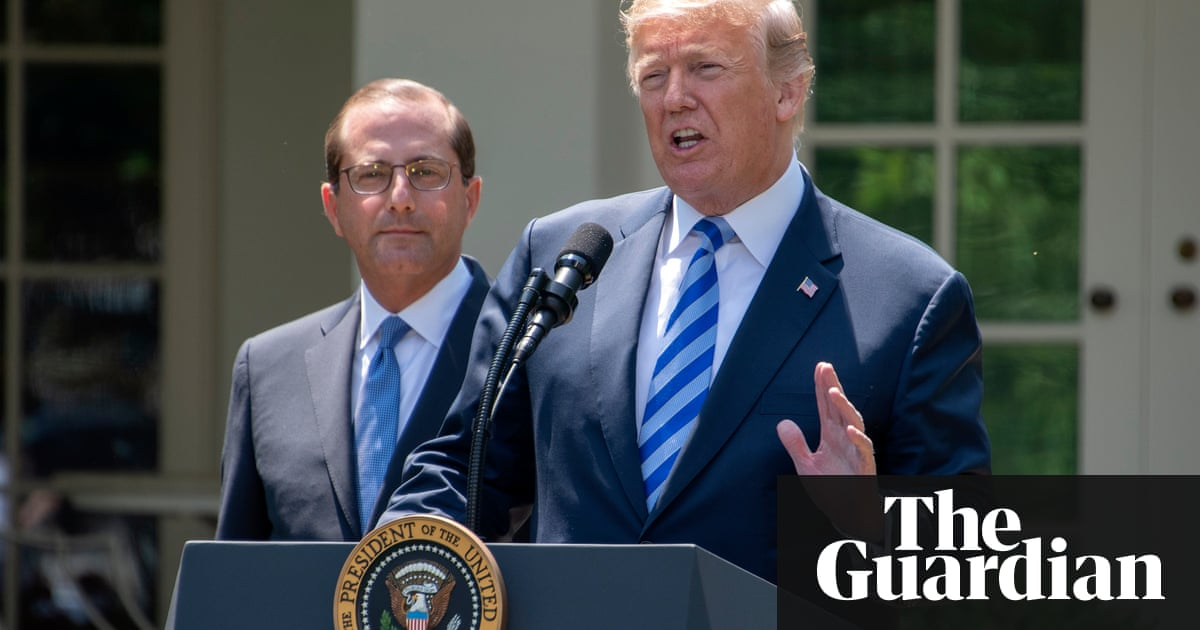 Donald trump and health secretary outline blueprint to lower drug donald trump and health secretary outline blueprint to lower drug prices business the guardian malvernweather Gallery