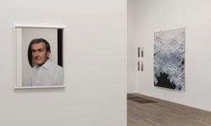 Wolfgang Tillmans's portrait of Neil MacGregor, left, at Tate Modern.