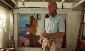 Sargy Mann in his studio in a 2007 portrait by his son.
