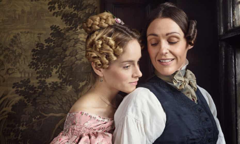 Sophie Rundle as Ann Walker and Suranne Jones as Anne Lister in Gentleman Jack.