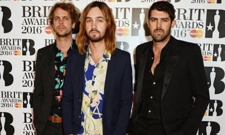 Pumped to be here … Tame Impala at the Brit awards 2016.