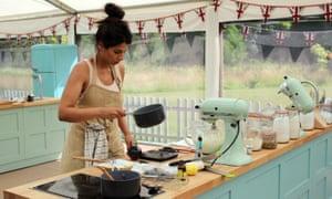 Great British Bake Off 2018 Final Episode 10, Showstopper Bake; Ruby baking.
