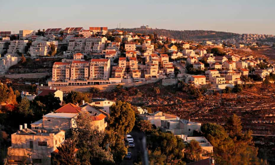 The Israeli settlement of Givat Zeev in the occupied West Bank.