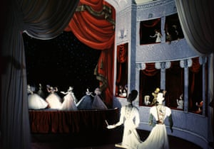 Miniature opera scene by Christian Berard of the Theatre de la Mode.