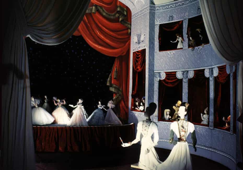 Miniature opera scene by Christian Berard of the Theatre de la Mode.