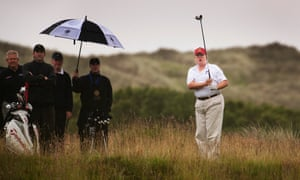 Donald Trump on golf course in Aberdeenshire in 2012.