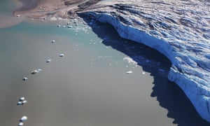 James Hansen argues that the effects of melting glaciers, such as this one near Ilulissat, Greenland, have been underestimated.
